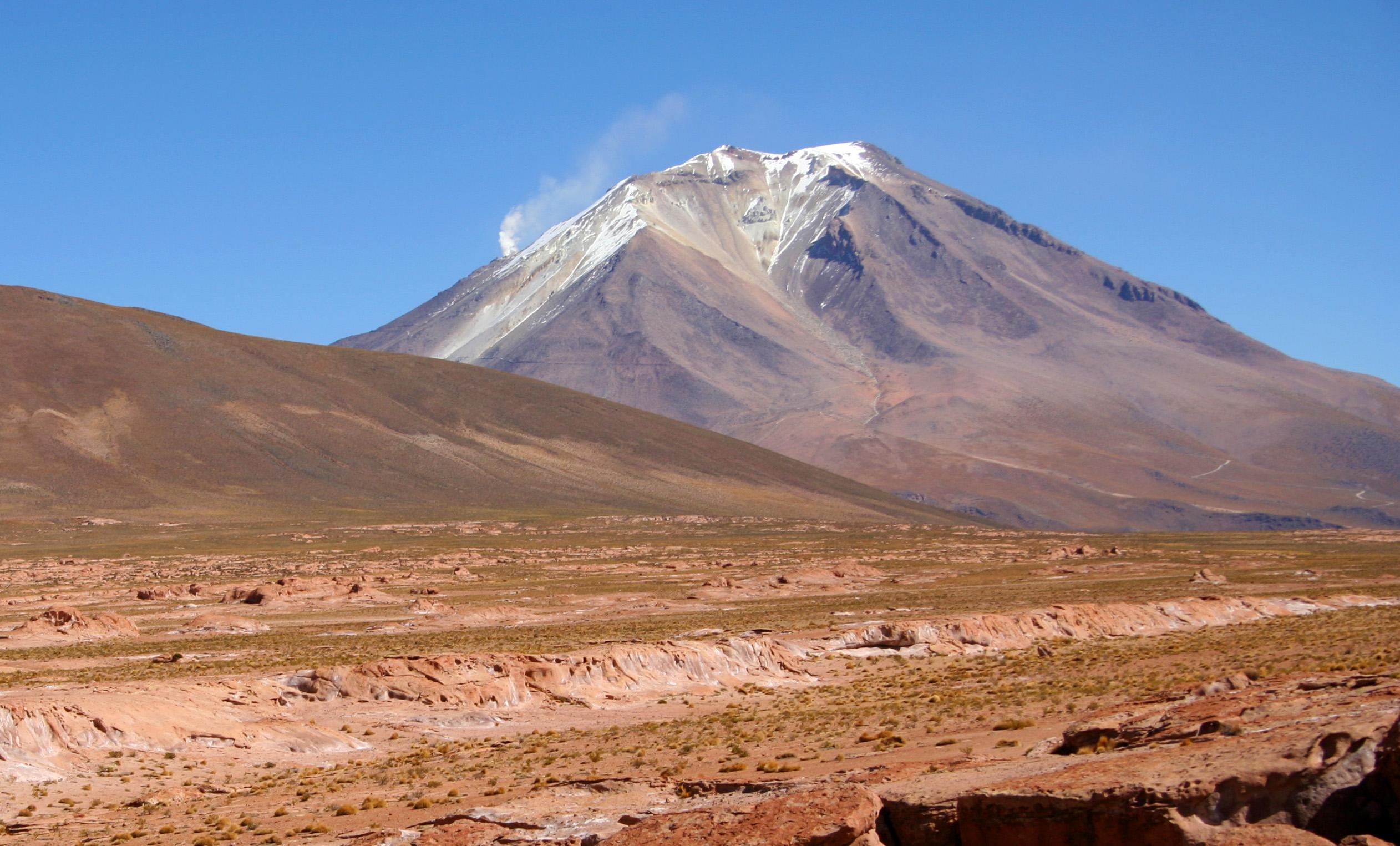 volcano on Altiplano