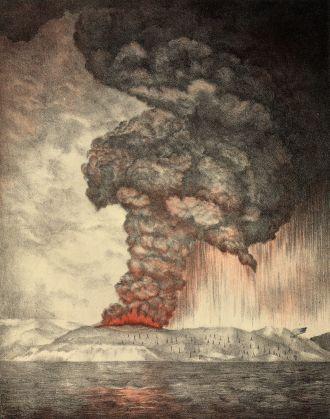 Krakatoa Erupts