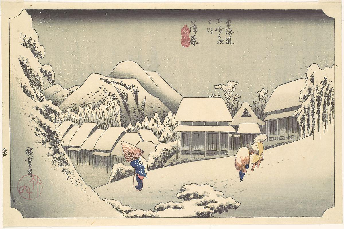 hiroshige snow