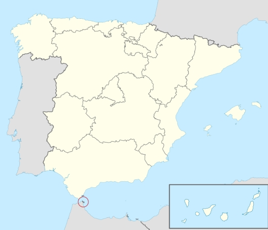 map spain africa