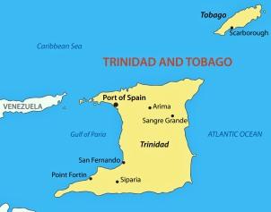 Republic of Trinidad and Tobago - vector map